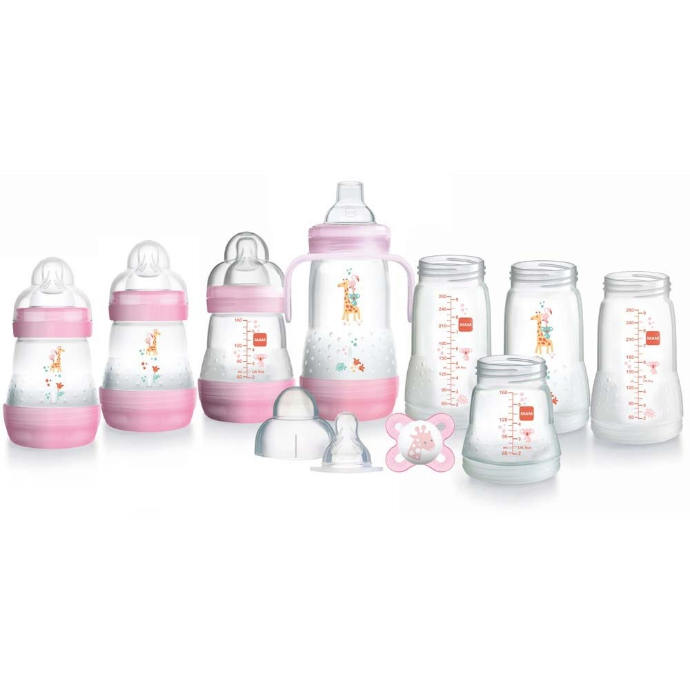 Click to view product details and reviews for Mam Bottle Starter Set Pink.