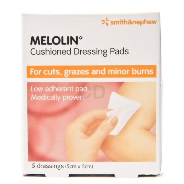 Melolin Cushioned Dressing Pads 5cmx5cm
