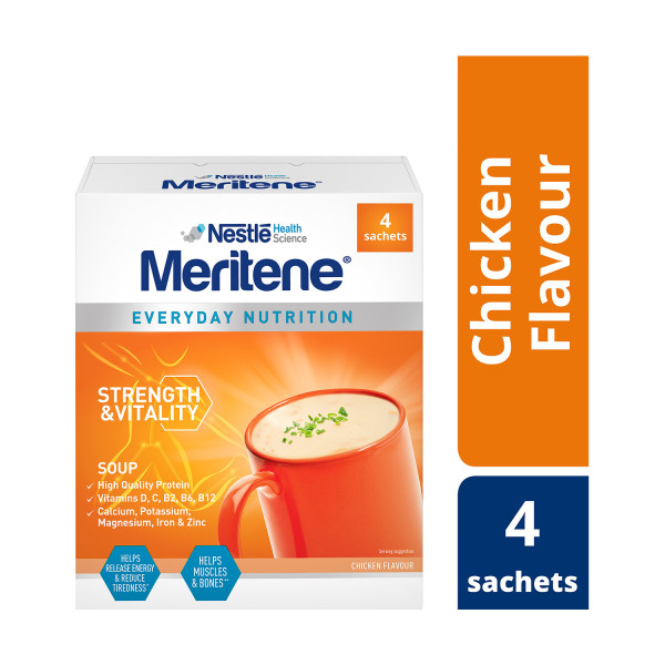 Meritene Strength and Vitality Chicken Soup Sachets 50g Sachets