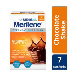 Meritene Strength and Vitality Chocolate Shake Sachets 30g Pack of 7