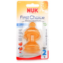 NUK First Choice Latex Teat Size 2 Medium Hole Twin Pack