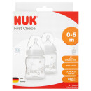 NUK First Choice Plus Silicone Bottle 2 Pack