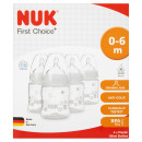 NUK First Choice Plus Silicone Bottle 4 Pack