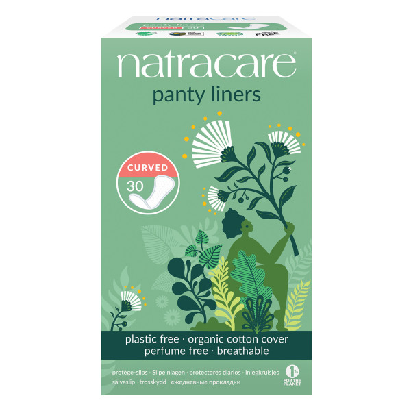 Natracare Natural Pantyliners Curved
