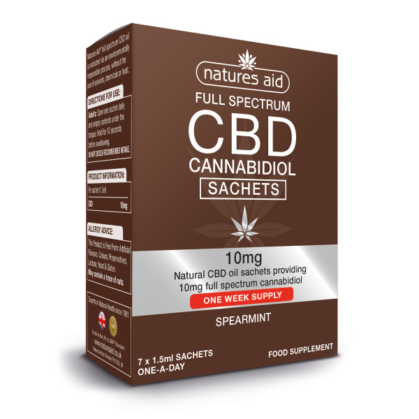 Natures Aid CBD Oil Sachets (spearmint flavour)