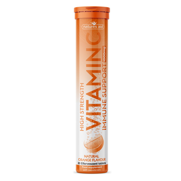 Natures Aid Vitamin C 1000mg Effervescent Tablets