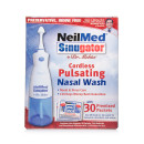 NeilMed Sinugator Cordless Pulsating Nasal Wash with 30 Premixed Sachets