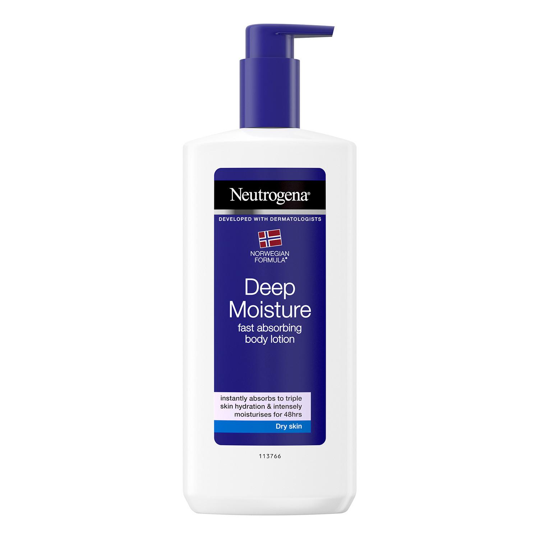 Neutrogena Deep Moisture Hypoallergenic Body Lotion For Dry Skin