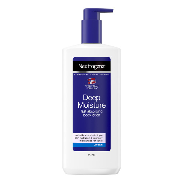 Neutrogena Deep Moisture Hypoallergenic Body Lotion For Dry Skin