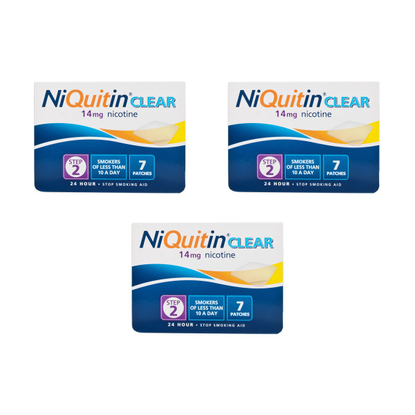 NiQuitin Clear 14mg Patches Step Two
