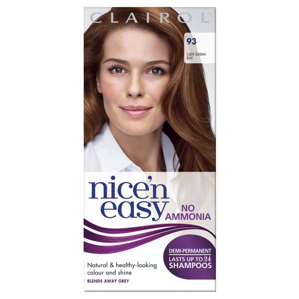 Clairol Nice N Easy Lasting Light Golden Red Non-Perm Colour 93