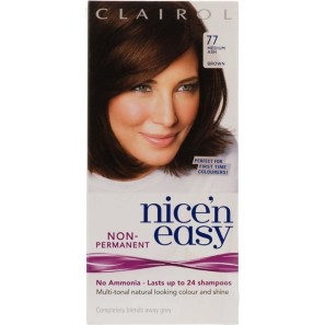 Clairol Nice N Easy Medium Ash Brown Non Permanent Hair Dye 77