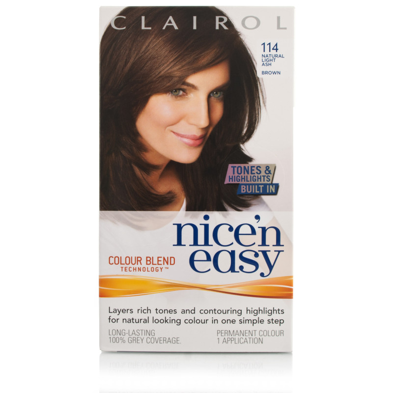 Nice N Easy Natural Light Ash Brown Permanent Hair Colour