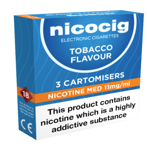 Nicocig Cartomiser Tobacco Medium 11mg