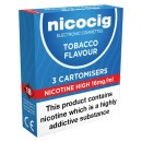Nicocig Tobacco High Cartomiser (16mg)