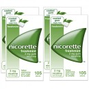 Nicorette 2mg Freshmint Gum Four Pack (4 x 105 Pieces)