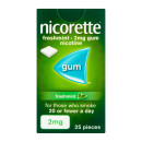 Nicorette Freshmint Chewing Gum 2 mg 25 Pieces