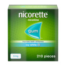 Nicorette 2mg Icy White Whitening Chewing Gum- 210 Pieces