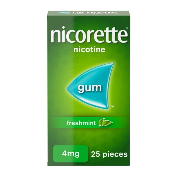 Nicorette Freshmint Chewing Gum 4 mg 25 Pieces