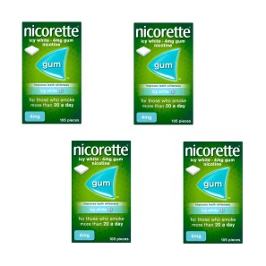 Nicorette Icy White Gum 4mg 420 Pieces