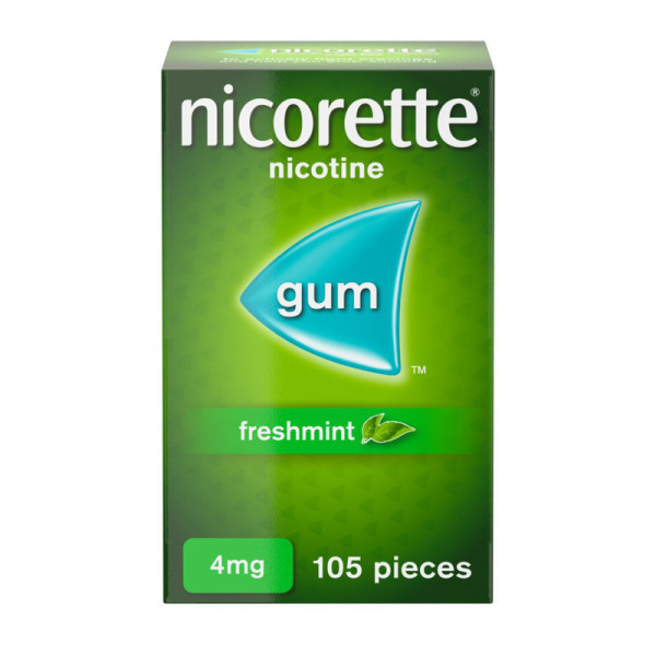 Nicorette Freshmint Chewing Gum 4 mg 105 Pieces