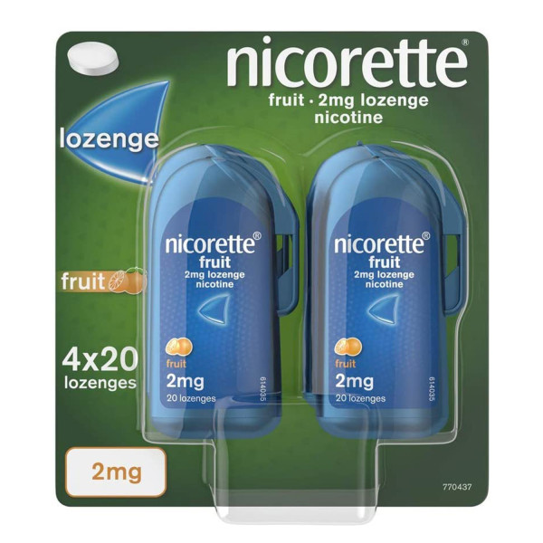 Nicorette Fruit Lozenge2mg 4x 20 pack
