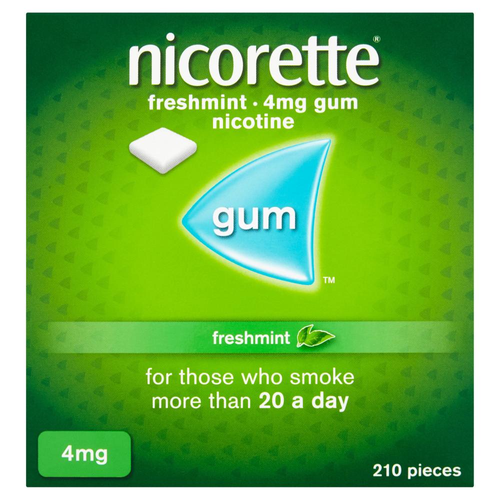 Nicorette Gum Freshmint 4mg 210 Pieces