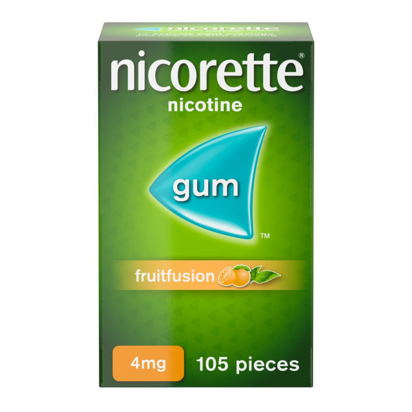 Nicorette Fruit Fusion Chewing Gum 4 mg 105 Pieces