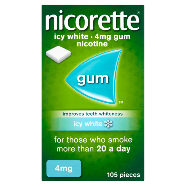 Nicorette Icy White Gum 4mg 105 Pieces