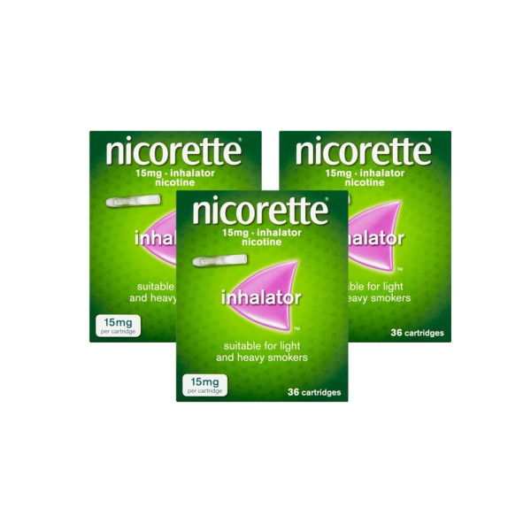 Nicorette Inhalator 15mg 108 Cartridges