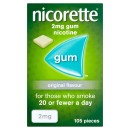 Nicorette Original Gum 2mg 105 Pieces
