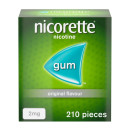 Nicorette Original Chewing Gum 2 mg 210 Pieces