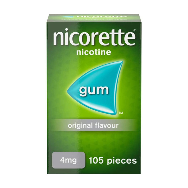 Nicorette Original Chewing Gum 4 mg 105 Pieces