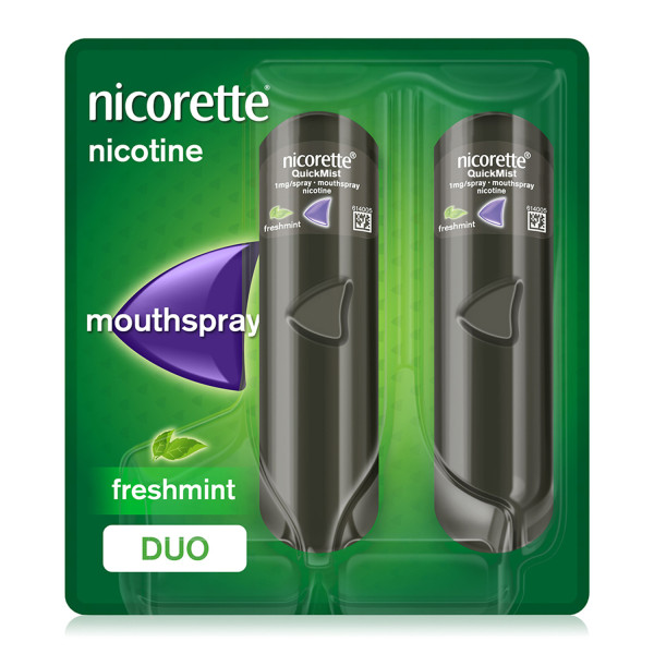Nicorette QuickMist  Mouth Spray Freshmint 1 mg Duo Pack