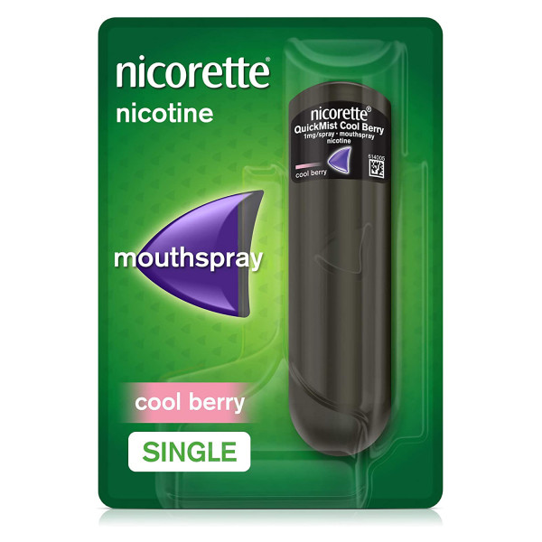 Nicorette Quickmist Mouthspray Cool Berry 1 mg Single Pack