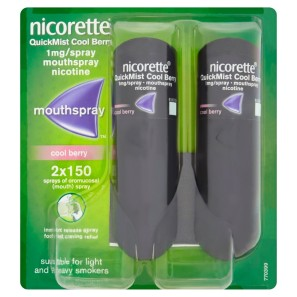 Nicorette QuickMist Mouthspray Duo pack 1mg Cool Berry