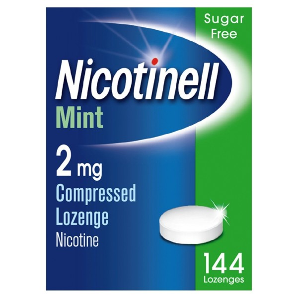 Nicotinell 2mg - 144 Compressed Lozenges - Mint