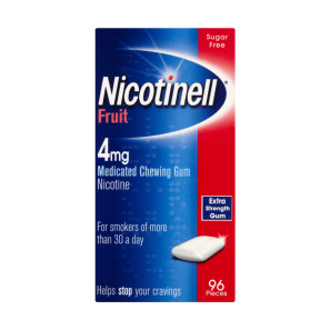 Nicotinell Nicotine Gum 4mg Fruit 96 Pieces