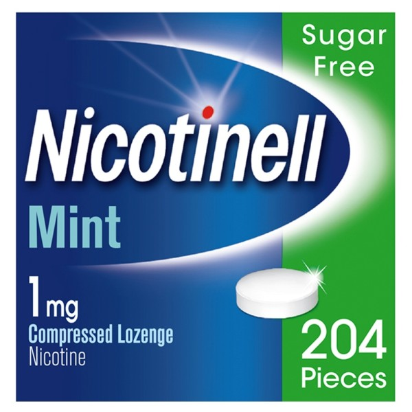 Nicotinell 1mg 204 Compressed Lozenges - Mint