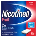 Nicotinell Nicotine Gum 2mg Fruit 204 Pieces