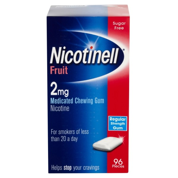 Nicotinell 2mg Gum - Fruit 96 Pieces