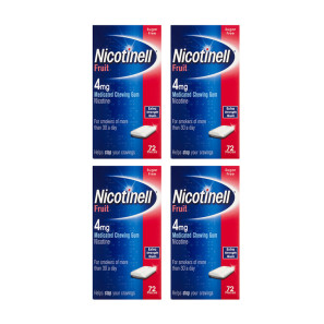 Nicotinell Nicotine Gum 4mg Fruit 384 Pieces