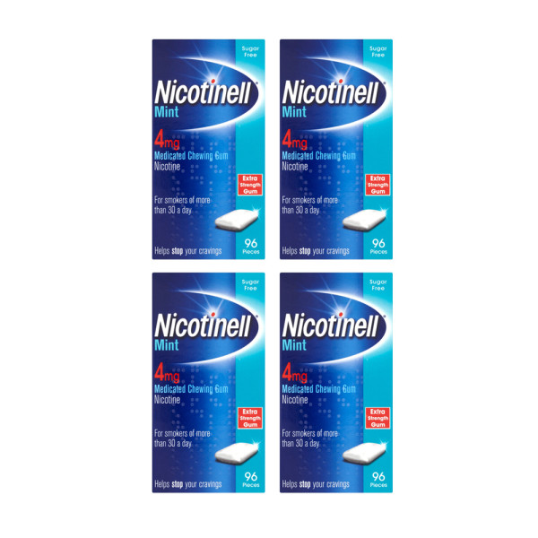 Nicotinell 4mg Extra Strength Gum - Mint 384 Pieces