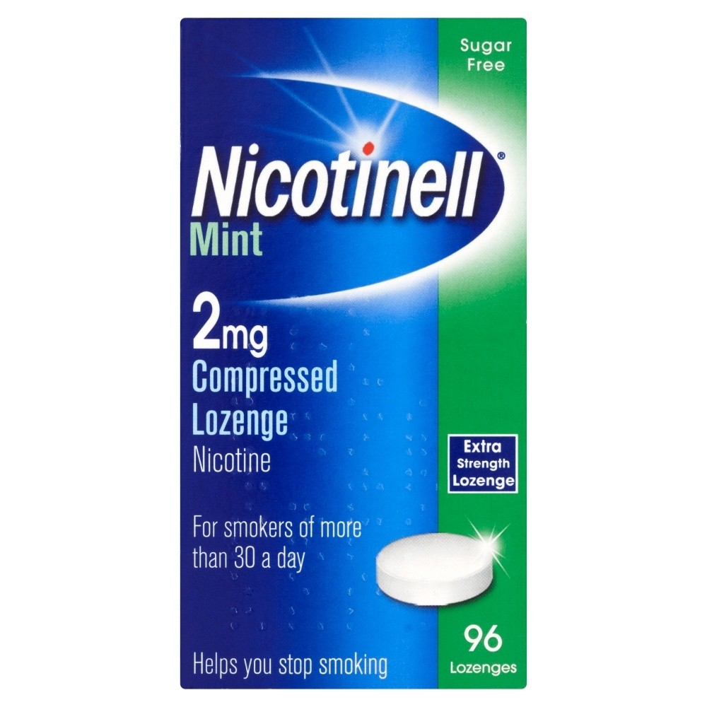 Nicotinell Lozenge Aid 2 mg Mint 96 Pieces- 960 Lozenges