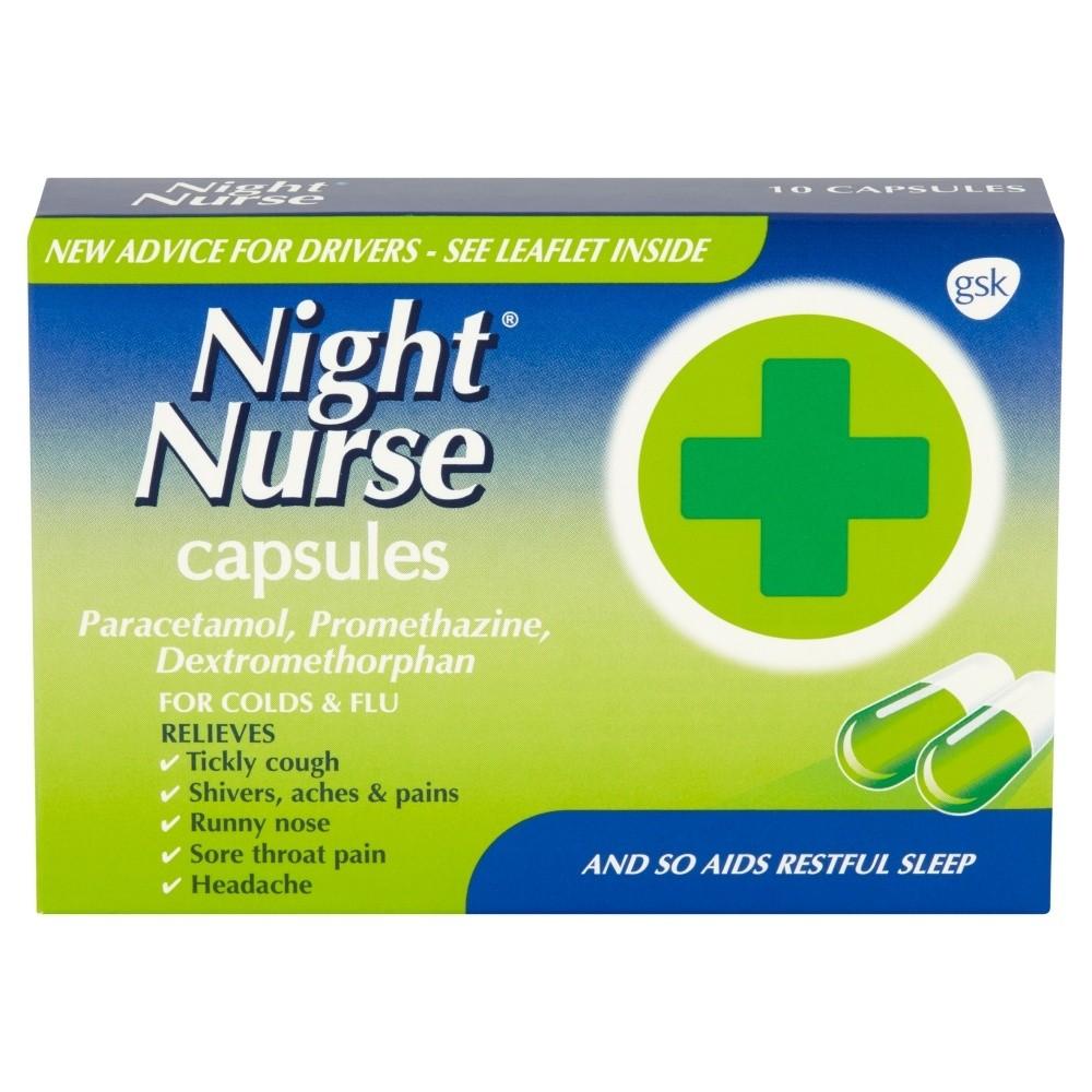 Night Nurse Cold and Flu Relief Capsules