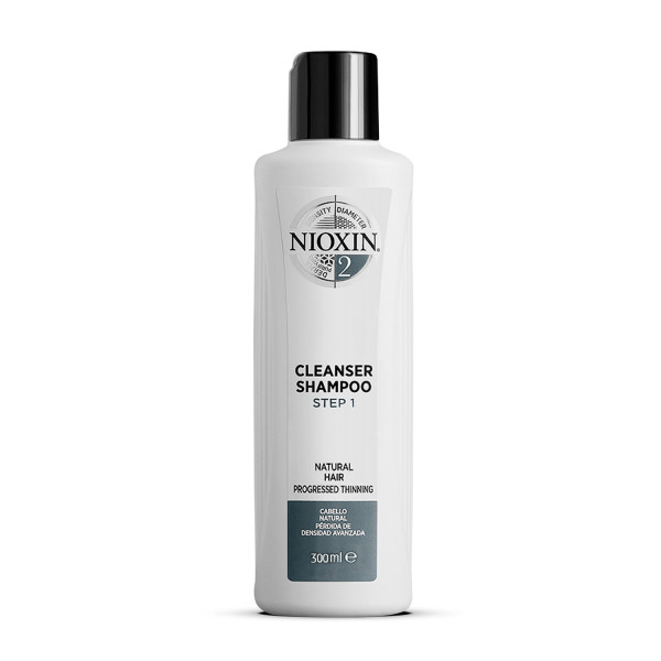 Nioxin 3 Part System 2 Cleanser Shampoo for Natural Hair with Progressed Thinning