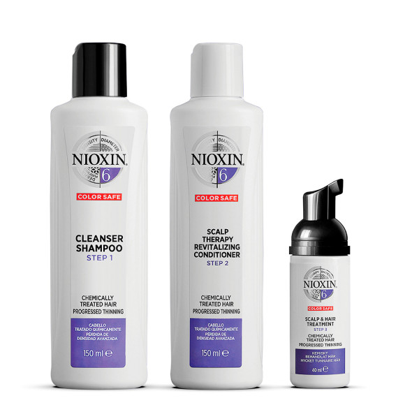 Nioxin 3 Part System 6 Trial Kit for Chemically Treated Hair with Progressed Thinning