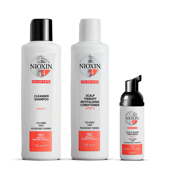 Nioxin 3 Part System 4 Trial Kit for Coloured Hair with Progressed Thinning