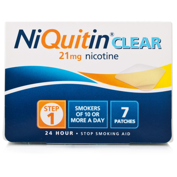 NiQuitin Clear 21mg Patches Step One