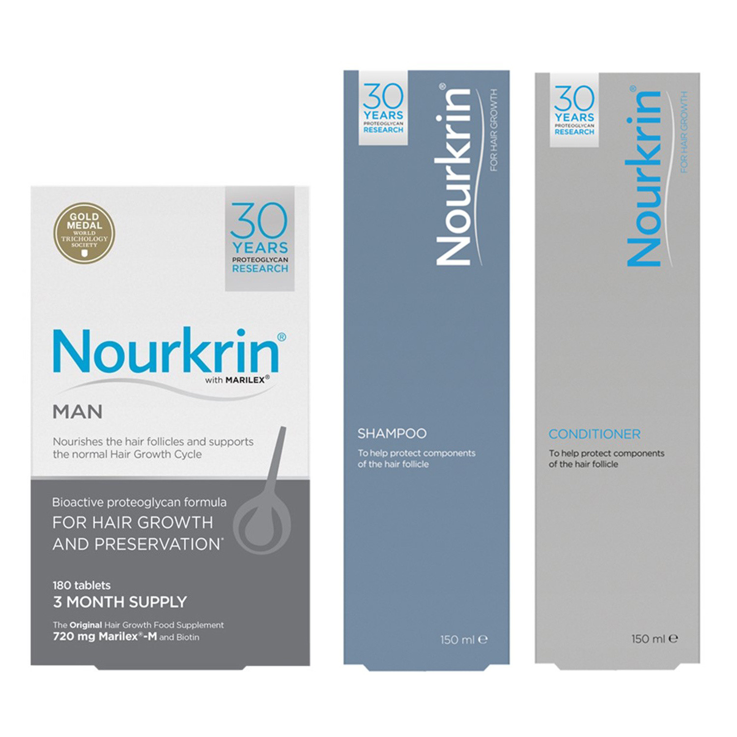 Nourkrin Man Hair Growth Programme (Free Shampoo and Conditioner)